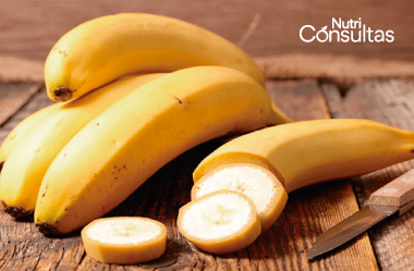 Nivel de potasio: plátano, rica fuente de potasio